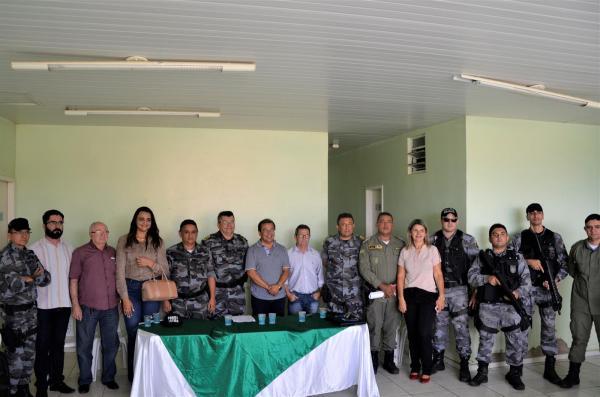 O encontro aconteceu na sede do 18º BPM (Imagem: Valdomiro Gomes/CANAL 121)