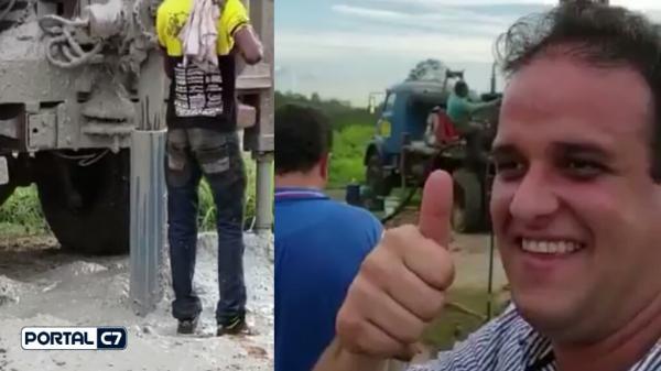 Prefeitura de Amarante está trabalhando em perfurações de poços no município; imagens