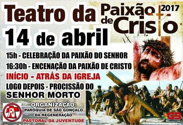 Igreja Católica de Regeneração realizará encenação da Paixão de Cristo