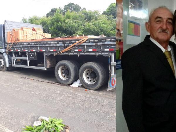 Idoso morre em grave acidente em frente ao GPM de Olho D'água do Piauí