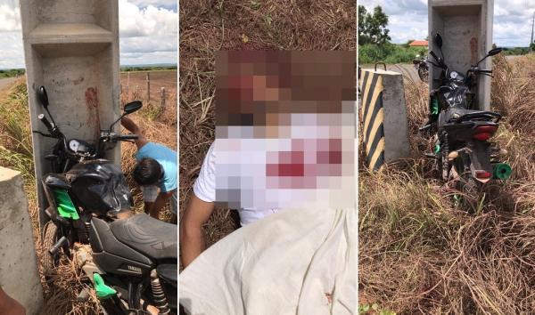 Motociclista de 39 anos morre após colidir com um poste na cidade de São Pedro do Piauí