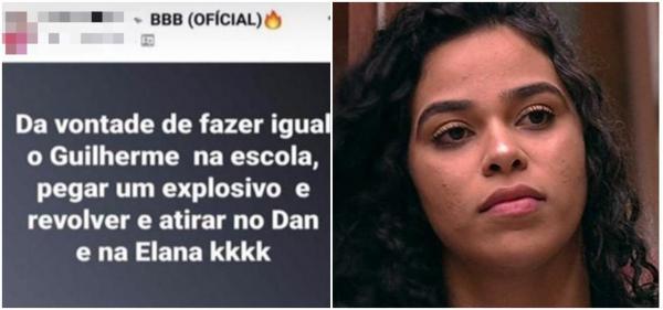 Internauta ameaça Elana Valenária em grupo do Facebook (Imagem: Divulgação-facebook)