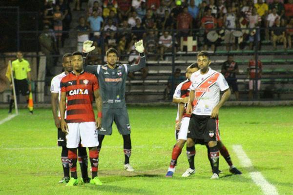 River perde para o Vitória-BA no jogo de ida das quartas de final da Copa do Nordeste