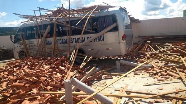 Parte do teto da Uespi desaba no final de semana em Picos