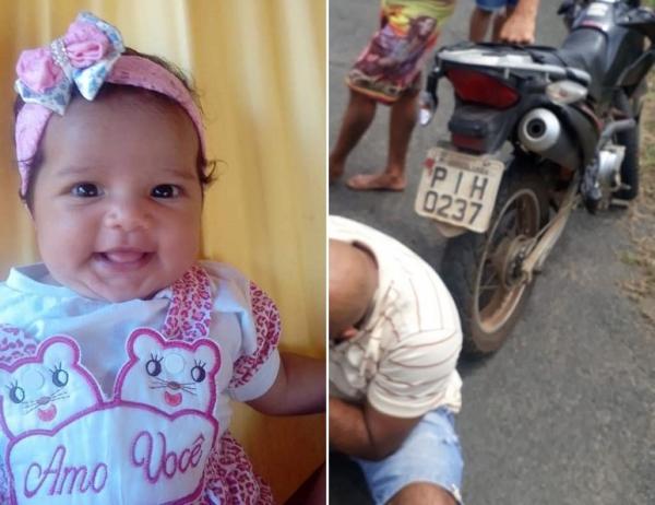 Criança de apenas 4 meses morre em grave acidente na cidade de Agricolândia