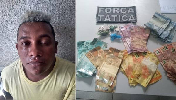 Perigoso criminoso é preso por suspeita de tráfico de drogas em Água Branca