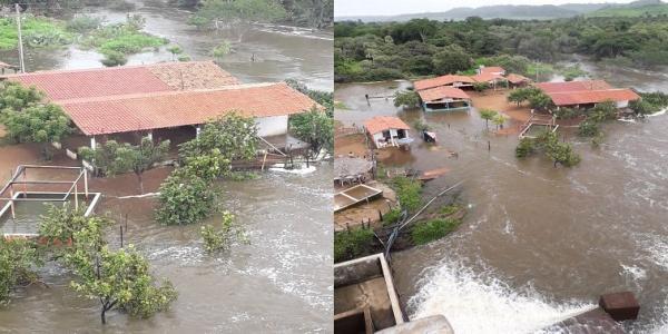Piauí   Barragem Mesa de Pedra atinge 100% da capacidade e alaga casas de bares