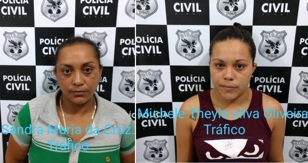 Mãe e filha presas na Operação Águas de Março (Imagem: Divulgação PC-PI)