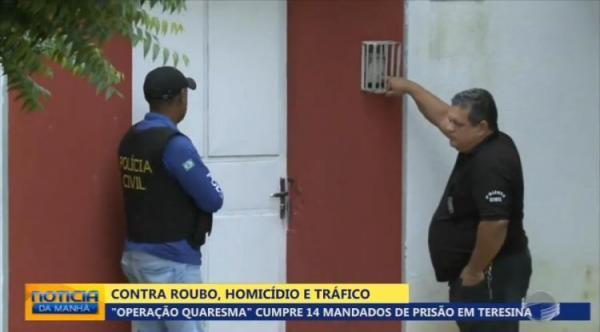 Polícia Civil deflagra Operação Quaresma e prende 12 pessoas em Teresina