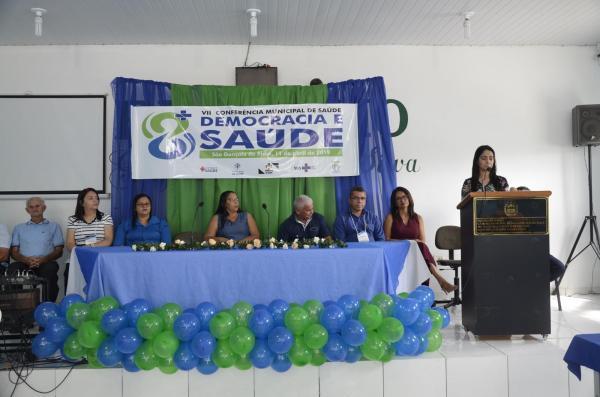 VII Conferência Municipal de Saúde de São Gonçalo do Piauí (Imagem: Valdomiro Gomes/CANAL 121)