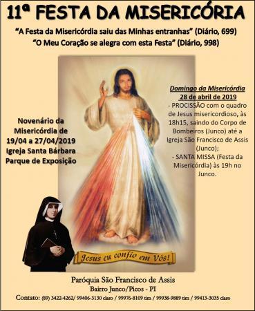 Paróquia de São Francisco de Assis promove a 11ª Festa da Misericórdia