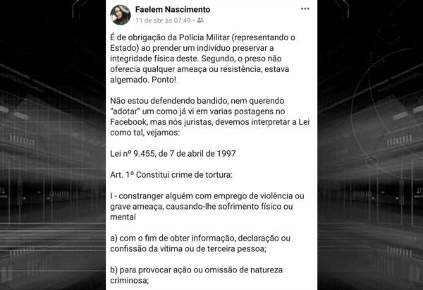 Piauí | Advogada que criticou PMs que agrediram preso foi arrastada durante assalto