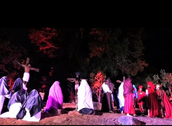 Encenação da Paixão de Cristo em Miguel Leão (Imagem: Cleison Batista)