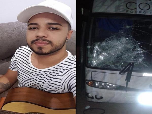 Ônibus de cantor é depredado após show ser cancelado em cidade piauiense