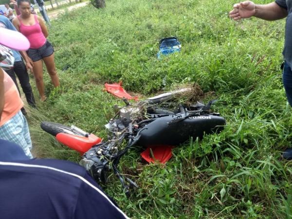 Motocicleta envolvida no acidente