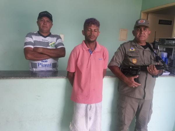 Antônio Alves Cardoso foi preso em Agricolândia (Imagem: Divulgação PM)
