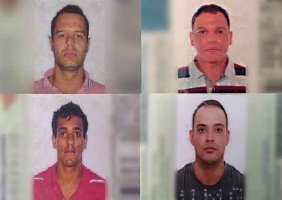 Bandidos mortos em confronto com a PM(Imagem: Divulgação/PM - edição: Rafael Gomes )