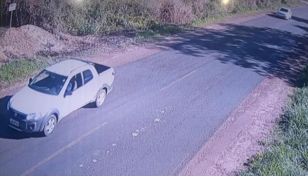 Após o assalto em Agricolândia, os criminosos foram visto seguindo no sentido Estaca Zero (Imagem: Reprodução)