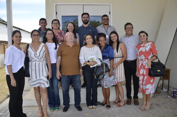 Visita dos secretários municipais de Saúde ao hospital de Água Branca (Imagem: Valdomiro Gomes/CANAL 121)