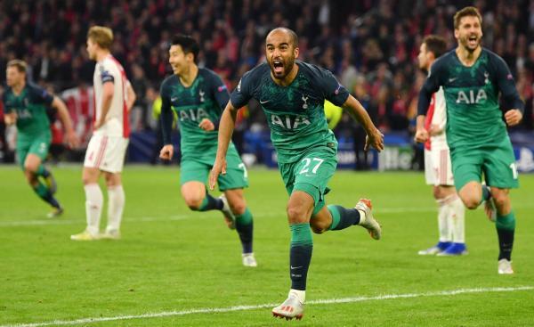 Lucas Moura faz três, Tottenham vira contra o Ajax no último minuto e vai à final da Champions League