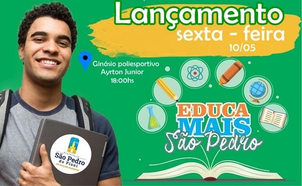 São Pedro do Piauí | Programa Educa Mais São Pedro será lançado nesta sexta-feira, dia 10