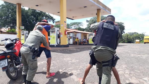PM faz blitz durante operação Médio Parnaíba Seguro (Imagem: Divulgação PM)