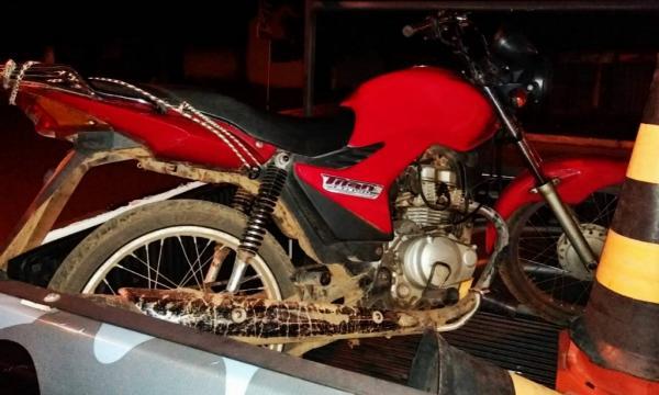 Uma das motocicletas recuperadas pela polícia (Imagem: Divulgação PM)
