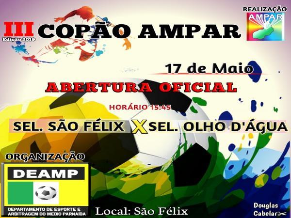 3º Copão Ampar de futebol terá início nesta sexta-feira (17), em São Félix do Piauí