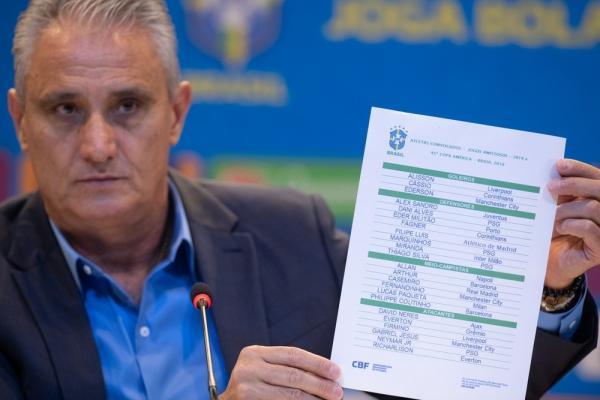Tite divulga convocação do Brasil para a Copa América com Neres e Fernandinho: