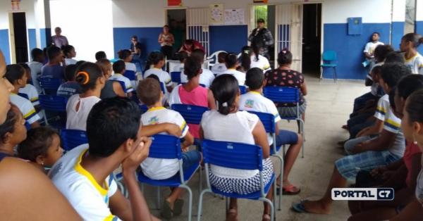 Força Tática de Regeneração realiza palestra na Comunidade Lagoa em Amarante