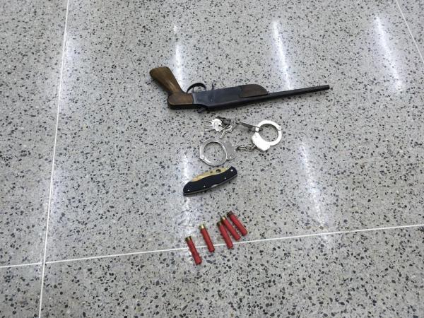 Arma usada por atirador durante ação em igreja em Paracatu — Foto: Ailton Pinheiro/Arquivo pessoal