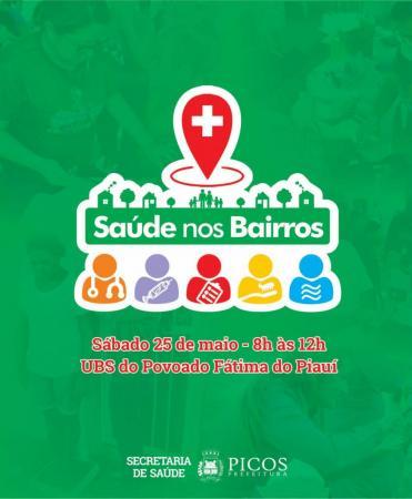 Saúde nos bairros será em Fátima do Piauí, neste sábado (25)