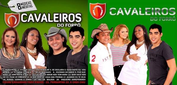 Eliza Clívia, à esquerda, e Gabriel Diniz, à direita, foram vocalistas do grupo Cavaleiros do Forró (Imagem: Divulgação)