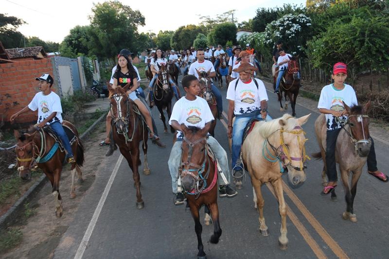 Cavalgada da comunidade Santo Antônio município de Água Branca (Imagem: Divulgação)