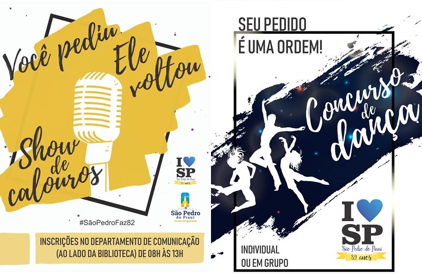 São Pedro do PI | Prefeitura abre inscrições para show de calouros e concurso de dança