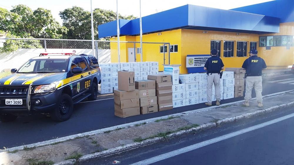 Material apreendido pela PRF (Imagem: Divulgação PRF-PI)