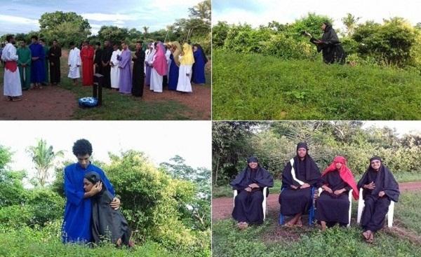 Pastoral da Juventude encena 1ª apresentação da Paixão de Cristo na zona rural de Regeneração