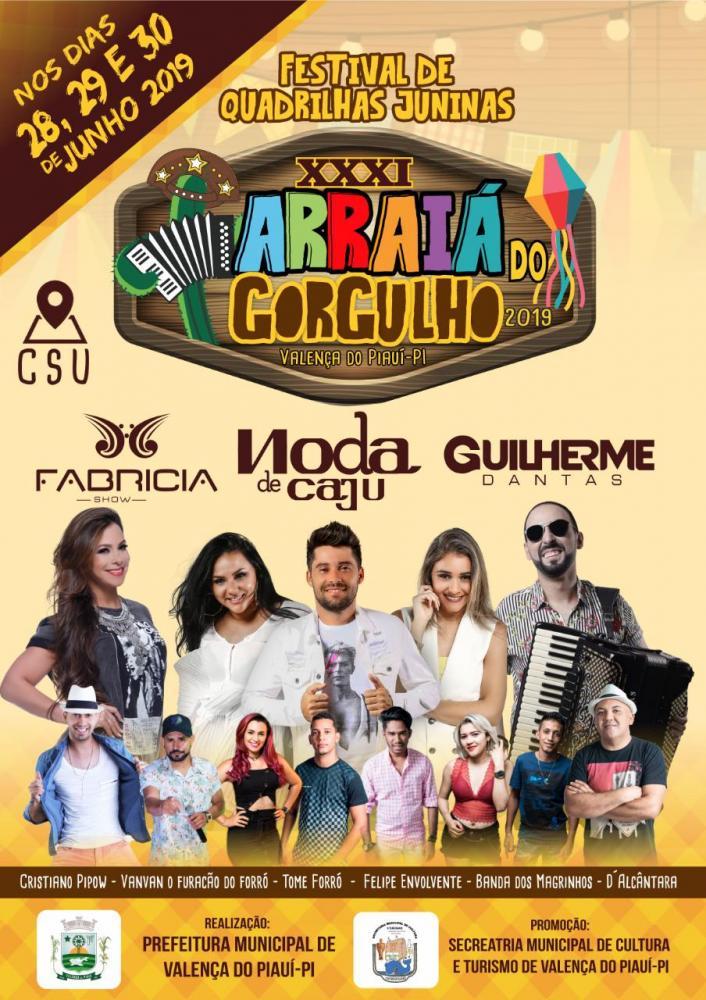31° Festival Cultural de Quadrilhas Juninas (Arraiá do Gorgulho) em Valença do Piauí