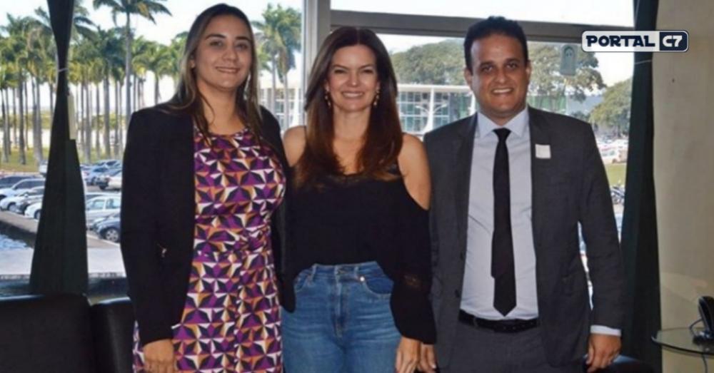 Primeira-dama Ana Tércia, Deputada Iracema Portella e prefeito Diego Teixeira