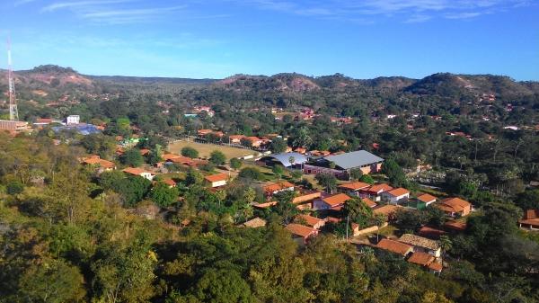 Visão panorâmica da sede do município