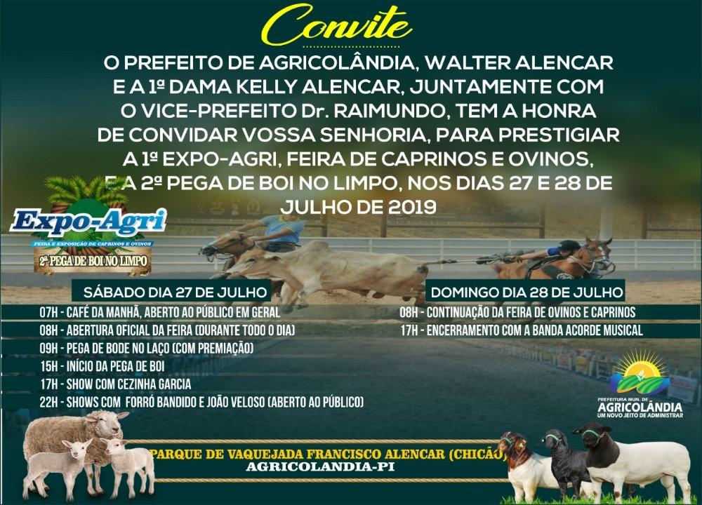 AgriCaprinOvinoShow será realizado nos dias 27 e 28 em Agricolândia
