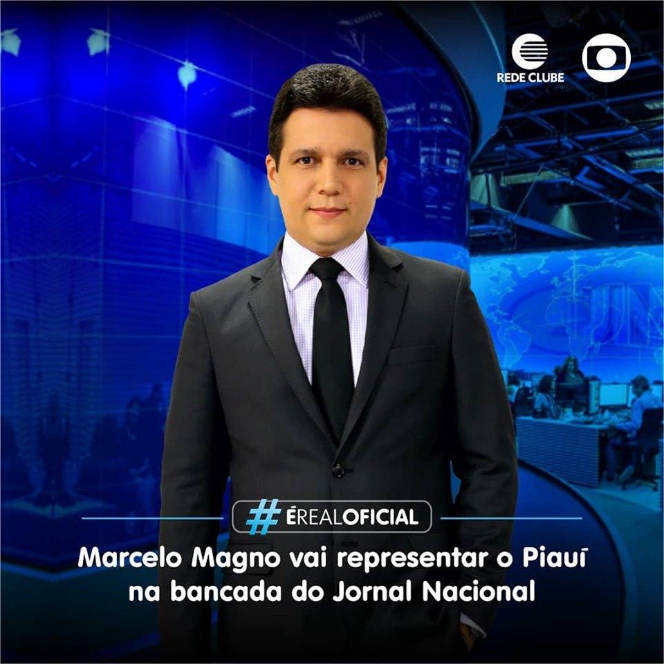 Piauiense apresentará o Jornal Nacional da rede Globo de televisão