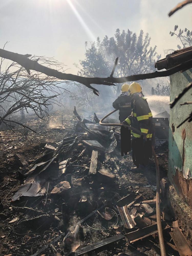 Foto: Corpo de Bombeiros- Incêndio no bairro Umari