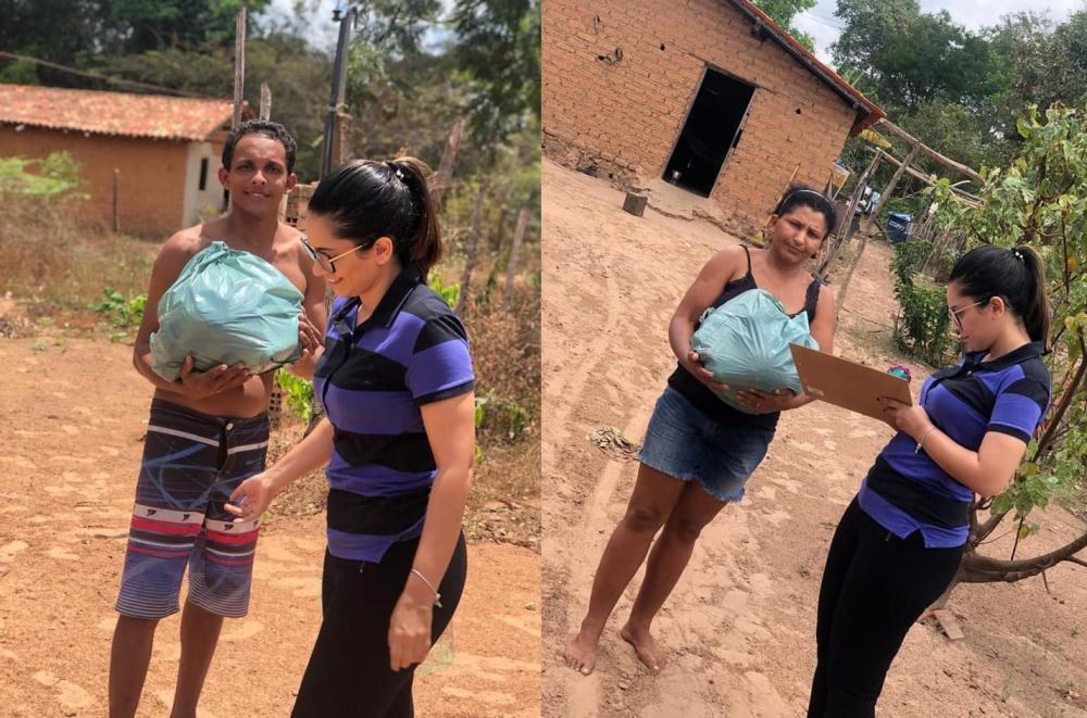 São Pedro do PI | Assistência Social entrega cestas básicas a famílias carentes da zona rural do município