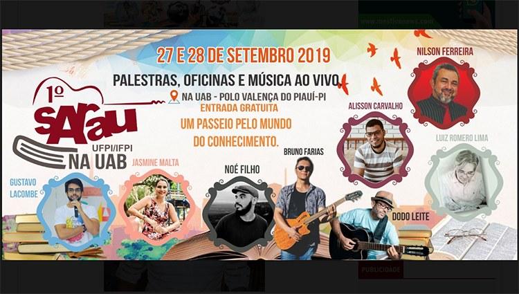 Pólo da UAB em Valença do Piauí realizará Sarau