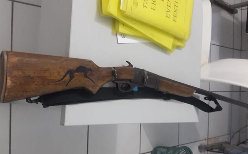 Arma do crime (Imagem: Divulgação PM)