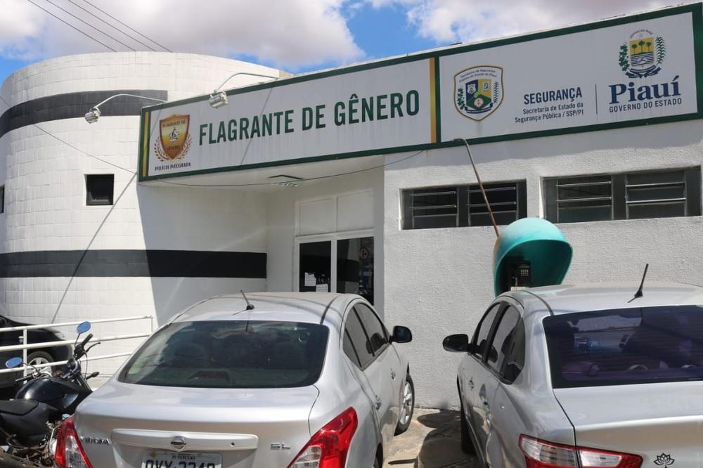 Caso foi recebido pela Central de Flagrante de Gênero de Teresina — Foto: Lucas Marreiros/G1 PI