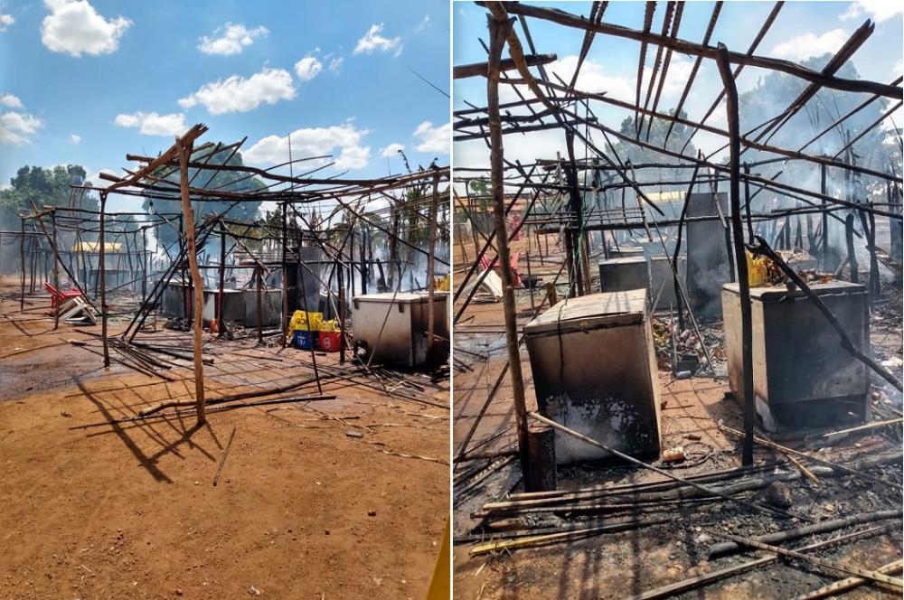 Imagem do local pouco depois do incêndio - Foto: Divulgação