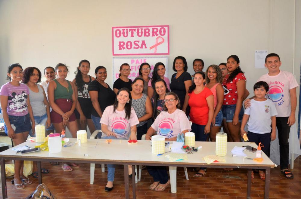 Grupo participante da oficina (Imagem: Valdomiro Gomes/CANAL 121)