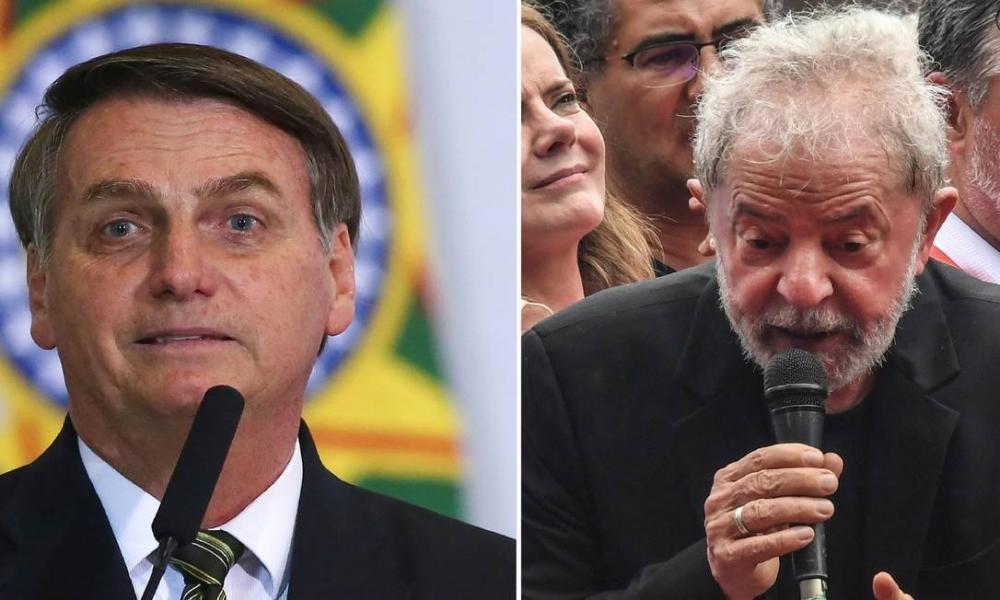 O presidente Jair Bolsonaro e o ex-presidente Lula (Imagem: Divulgação)
